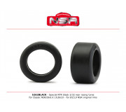NSR 5262BLACK Special RTR Slick Rear for Classic NSR/Slot.it - 19.8x10 - Low Profile - Racing tyres