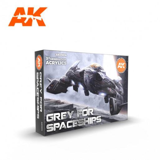 AK Interactive AK11614 Grey for Spaceships Colors Set 6x17ml