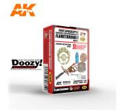 Doozy DZ032 Trappe de Tambour Acier Universelle Post-Apocalyptique avec Support de Lance-Flammes