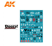 Doozy DZ034 Décalcomanies Post-Apocalyptiques Assorties