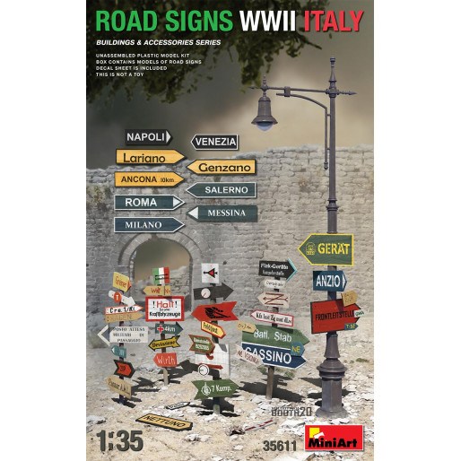 MiniArt 35611 Signalisation Routière Italie WW2
