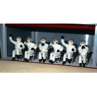 Slot Track Scenics Fig. 9 Seated Pit crew + 3 chairs Pack B