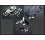 Black Arrow BACMKITA AM DBR9 Kit Carrosserie Blanche + Kit Châssis Inline + Kit Mécanique