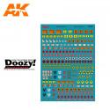 Doozy DZ035 Assorted Fuel Signs Decals