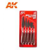 AK Interactive AK9051 Set de Spatules Modélisme