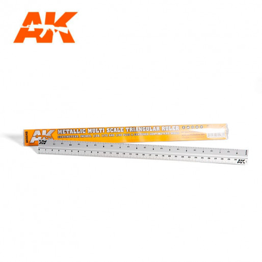 AK Interactive AK9049 Metallic Multi Scale Triangular Ruler