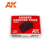 AK Interactive AK9016 Coarse Sanding Pads - 120 Grit (4 pcs)