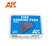 AK Interactive AK9018 Fine Sanding Pads - 400 Grit (4 pcs)