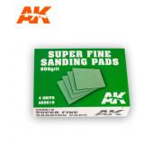 AK Interactive AK9019 Super Fine Sanding Pads - 800 Grit (4 pcs)