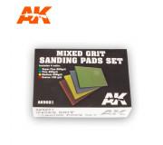 AK Interactive AK9021 Mixed Grit Sanding Pads Set (4 pcs)