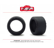 NSR 5261BLACK Special RTR Slick Rear for GT3 Scaleauto/Sideways/LMP - 20x10 - Low Profile - Racing tyres