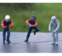LE MANS miniatures Figure Team Joest Porsche : Refuelling department
