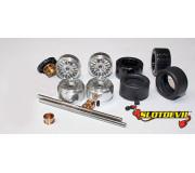 Slotdevil 20243032 Carrera Tuningkit C32 HA/VA Gleitlager PU Reifen