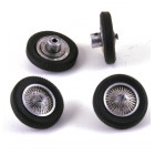 LE MANS miniatures Set of 4 spoked wheels Bugatti 57G & C & 59 (rear only)