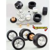 Slotdevil 20243033 Carrera Tuningkit C33 HA/VA Gleitlager PU Reifen