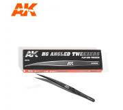 AK Interactive AK9162 HG Angled Tweezers 02 Flat-End