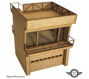 Magnetic Racing 022c Modern Pit Building