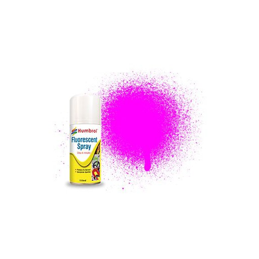 Humbrol AD6202 Fluorescent Pink - 150ml Acrylic Spray Paint
