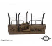 Magnetic Racing 037m Pit Wall with Marshal Access