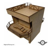 Magnetic Racing 022w Modern Pit Building with Podium
