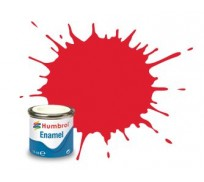 Humbrol AA0206 No. 19 Bright Red Gloss - 14ml Enamel Paint