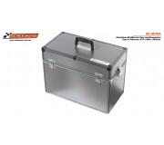 Scaleauto SC-5075A SlotBox Aluminium pour Voitures et Accessoires Type A (Grande) : 475x240x350mm