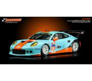 Scaleauto SC-6145R Porsche 991 RSR GT3 Gulf 24H. Le Mans 2016 R-Series Anglewinder RT3