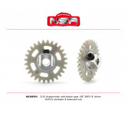 NSR 6628EVO 3/32 Plastic Gear with aluminium hub - 28 Teeth Ø 16mm - Anglewinder 15°