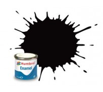 Humbrol AA0936 No.85 Coal Black Satin - 14ml Enamel Paint
