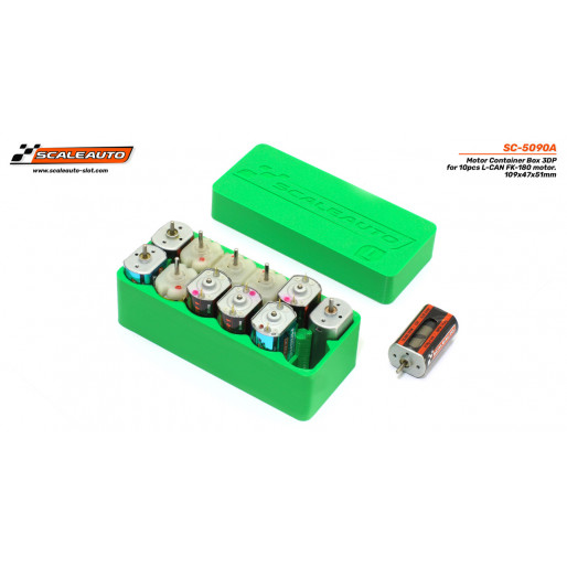 Scaleauto SC-5090A 3DP Box for L-CAN FK-180 engines (Long Box). 12 units. Measurements: 109x47x51mm