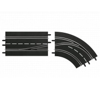 Carrera DIGITAL 30364 Lane Change Right Curve, In to Out
