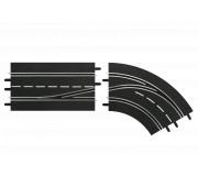 Carrera DIGITAL 30364 Changement de Voie Courbe Droite, Intérieur vers Extérieur