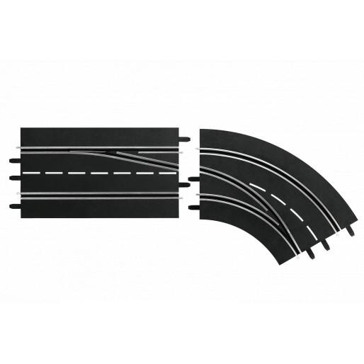 Carrera DIGITAL 30365 Changement de Voie Courbe Droite, Extérieur vers Intérieur