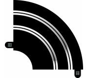 Scalextric C8201 Radius 1 Hairpin Curve 90°
