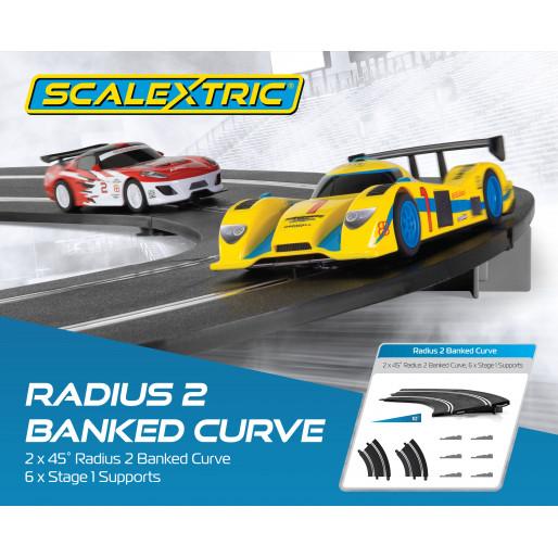 Scalextric C8296 Courbe Relevé 10° Radius 2 45° (2 pcs)