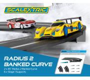 Scalextric C8296 Radius 2 10° Banked Curve 45° (2 pcs)
