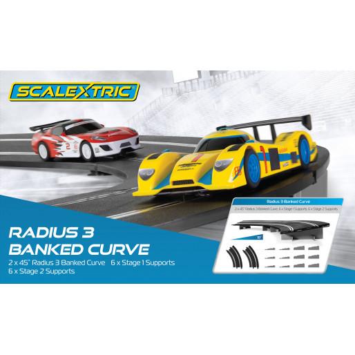 Scalextric C8297 Radius 3 10° Banked Curve 45° (2 pcs)