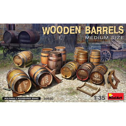 MiniArt 35630 Wooden Barrels. Medium Size