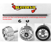 Slotdevil 200352360 2,38mm Front steel axis 60mm groove/locking (1 pc)