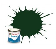 Humbrol AA6330 No. 195 Dark Green Satin - 14ml Enamel Paint