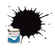 Humbrol AA6392 No. 201 Black Metallic - 14ml Enamel Paint