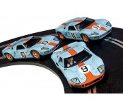 Scalextric C3896A Legends Ford GT40 LeMans 1968 - Gulf Triple Pack - Limited Edition