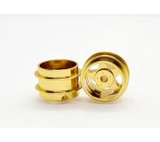 STAFFS02 Five Spoke Gold Wheel 15.8mm x 10mm (2 pcs)