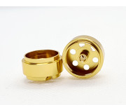STAFFS26 15.8 X 8.5MM Gold Alloy Wheels (Front) (2 pcs)