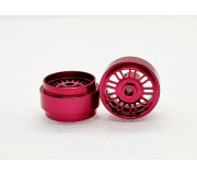 STAFFS38 16.9 x 8.5MM Red BBS Style Alloy Wheels (Front) (2 pcs)