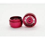 STAFFS43 16.9 x 10mm Red BBS Style Alloy Wheels (Rear) (2 pcs)