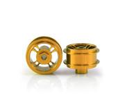 STAFFS46 4 Spoke 15.8 x 8.5mm Gold Alloy Wheels (2 pcs)