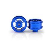 STAFFS47 4 Spoke 15.8 x 8.5mm Blue Alloy Wheels (2 pcs)