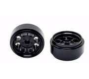 STAFFS78 Classic 15.8 x 8.5mm Alloy Black Wheel (2 pcs)