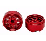 STAFFS81 Classic 15.8 x 8.5mm Alloy Red Wheel (2 pcs)
